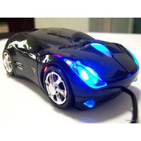 Мышь в виде автомобиля, мышь - автомобиль. Чёрная. Новая, в Минске