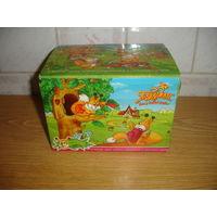 Киндер Коробка упаковка от яиц серии Белочки Ландрин Подружка Веселые бельчата