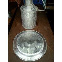 Поднос и сосуд под воду 9 литров пищевой алюминий