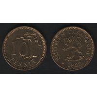 Финляндия km46 10 пенни 1982 год (K) (f37)*