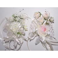 Все для свадьбы- бутоньерки, ползунки, сундук, подушечка для колец