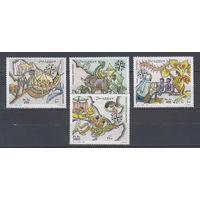 Море. Старинные корабли. Сомали. 1999. 4 марки (полная серия). Michel N 770-773 (19,0 е)