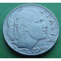 Италия. 20 чентезимо 1939