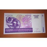 Банкнота 1000 ariary (5000 francs) 2004 Мадагаскар