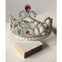 Диадема для девочки (снегурочка,принцесса), диаметр 11см.