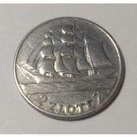 """2 злотых 1936 год.  Польша. """"15 лет морскому порту Гдыня"""". Отличная! Серебро 0.750."""
