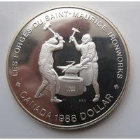 Канада. 1 доллар 1988. Серебро. Пруф. 362