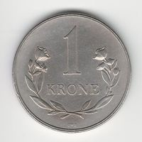 Гренландия 1 крона 1960 года. Краузе KM# 10a. Нечастая! Состояние XF+/аUNC!