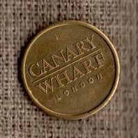 2 Жетона / разные по диаметру / Canary Wharf / Лондон