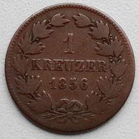 Баден 1 крейцер 1856 PRINZ U.REGENT