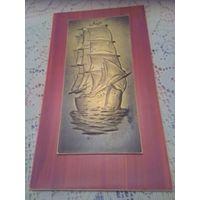 Картина, корабль,5 руб.