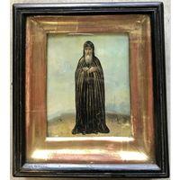 Икона Святой Сергий Радонежский;Россия, XIX век. В родном киоте.