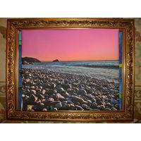 Картина закат на побережье Италии 50х50