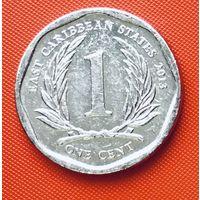 18-12 Восточные Карибы, 1 цент 2013 г.