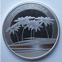 Фиджи, доллар, 2018, серебро
