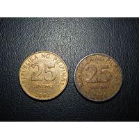 Филиппины 25 сентимов (список)