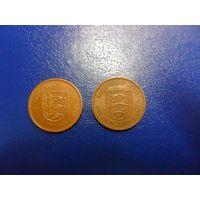 Джерси 1 новый пенни пенни 1980 г.г.-в наличии ОДНА монета