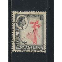GB Колонии Родезия и Ньяссаленд 1959 EII Телеграф Стандарт #20А