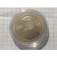 1 доллар 1983г Олимпиада.