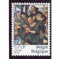 Бельгия. Живопись Хуго ван дер Гус, фламандский художник. Поклонение пастухов