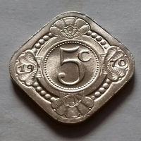 5 центов, Нидерландские Антильские острова, (Антиллы) 1970 г., AU