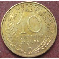 6547:  10 сантимов 1967 Франция