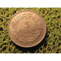 5 франков 1949 франция *744