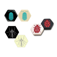 Улей / Hive дополнение для стандартной версии (Комар, Божья коровка, Мокрица) / (Mosquito, Ladybug, Pillbug)