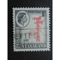 Родезия-Ньясаленд 1959 г. Королева Елизавета II. Телеграфная линия.