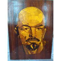 Панно В.И.Ленин ,мозаика (маркетри) СССР.