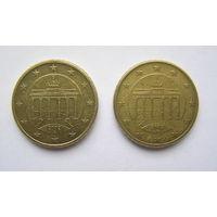 50 евроцентов, Германия 2002 G, 2002 F.