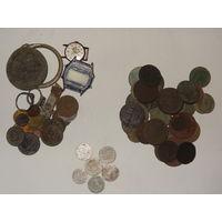 Медные монеты империи (37шт)+ биллон (6шт) + копанина с советами, старт с рубля