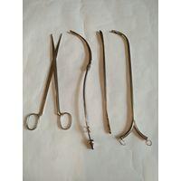 Старинные медицинские инструменты,разные.