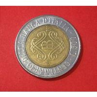 Италия, юбилейные 500 лир, 1993г.