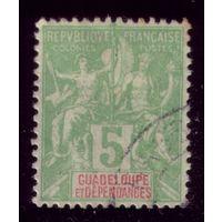1 марка 1892 год Гваделупа 30 3