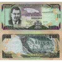 Ямайка. 100 долларов 2009. [UNC]
