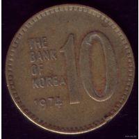 10 Вон 1974 год Ю.Корея