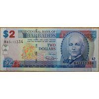Барбадос 2 доллара 2007г. AU