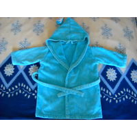 Тёплый махровый халат 98-104