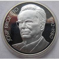 Югославия, 1000 динаров, 1980, серебро, пруф