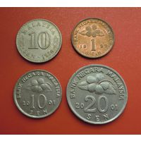 Лот из 4-х монет Малайзии