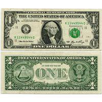 США. 1 доллар (образца 2006 года, K, Техас, P523)