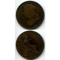 Великобритания 1 пенни 1895 г. KM#790 (Виктория)