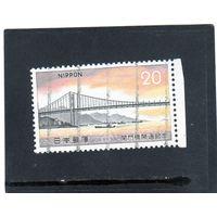 Япония. Mi:JP 1191. Мост из Хонсю в Кюсю. Серия: Мост Кан Мон. 1973.