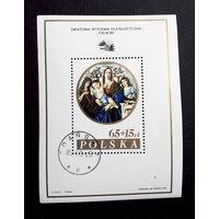 Польша 1985 г. Филателистическая выставка Италия 1985. Живопись, полная серия. Блок #0165-И1P34