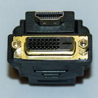572-574 Переходник HDMI (m) - DVI (f)