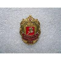 Знак юбилейный. Военные комиссариаты Министерства обороны России. 95 лет. Латунь цанга.