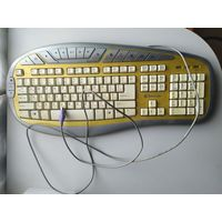 Клавиатура Defender Slalom KM-4910G Yellow PS / 2