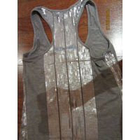 Удлиненная майка-платье с пайетками 44-46