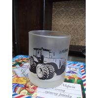 Кружка, чашка. Трактор Беларусь. Матовое стекло.